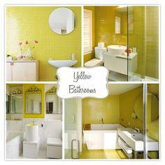 Pictures Of Yellow And White Small Bathrooms Google Search