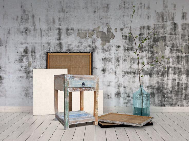 Vintage Sengebord i genbrugstræ - http://indieliving.dk/shop/sengeborde-14c1.html