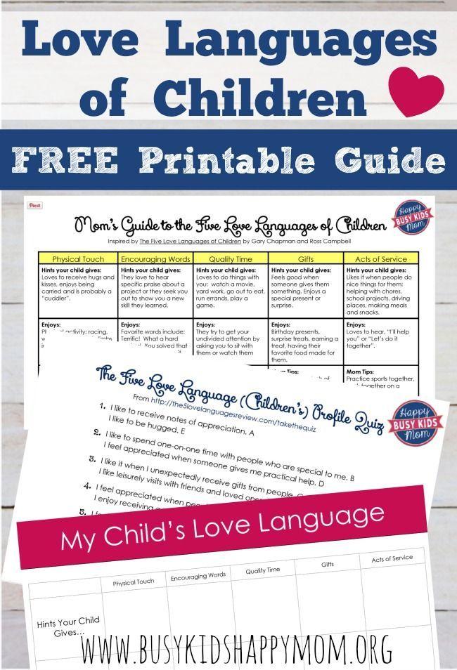 Five Love Languages Of Children Free Love Language Test For Kids Logan Andx Hijos Ninos Nena