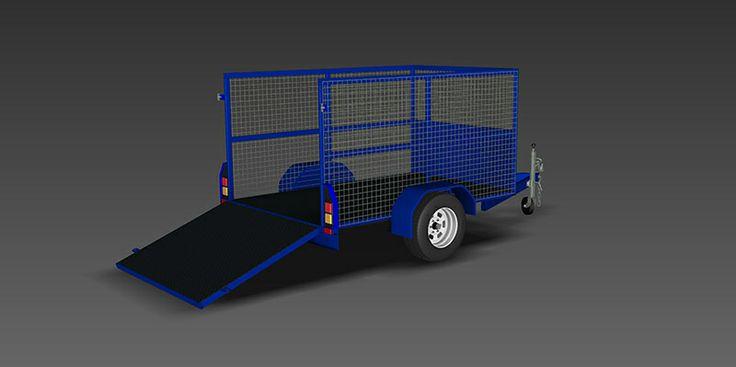 www.trailerplans.com.au Build your own CAGE TRAILER - Trailer Plans - Designs & drawings for trailer construction