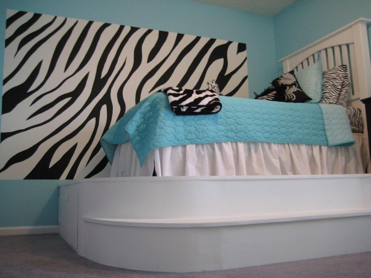 Zebra Bedrooms for Girls - http://ther.bullpenbrian.com/zebra-bedrooms-for-girls/ : #ColorIdeas Zebra bedrooms for girls – Coordinate an elegant and modern room for teenagers when combined with turquoise zebra stripes fashion. Use traditional black and turquoise and white zebra stripes solid or combine turquoise and black zebra stripes or turquoise and white with solid black, white...