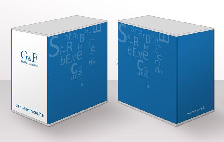 Progettazione grafica box GF Cucine, 2015.