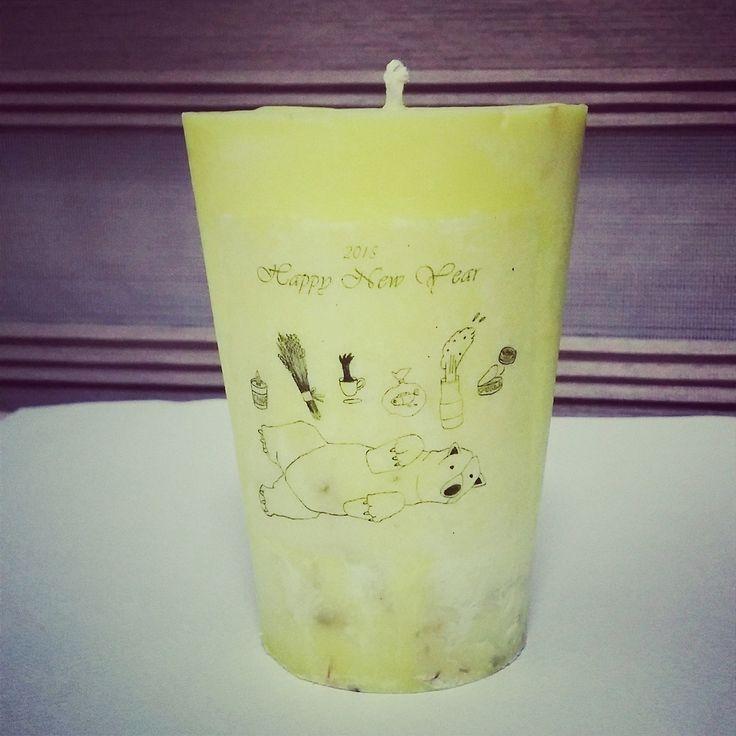 따라~ ♬ 내 그림으로 캔들 완성! 불 붙이기 너무 아깝. 아껴줄테다. #handmade_candle #handmade #소이캔들 #디자인캔들 #필라캔들 #손그림 #일러스트 #illustration #candle #연말선물 #그림스타그램