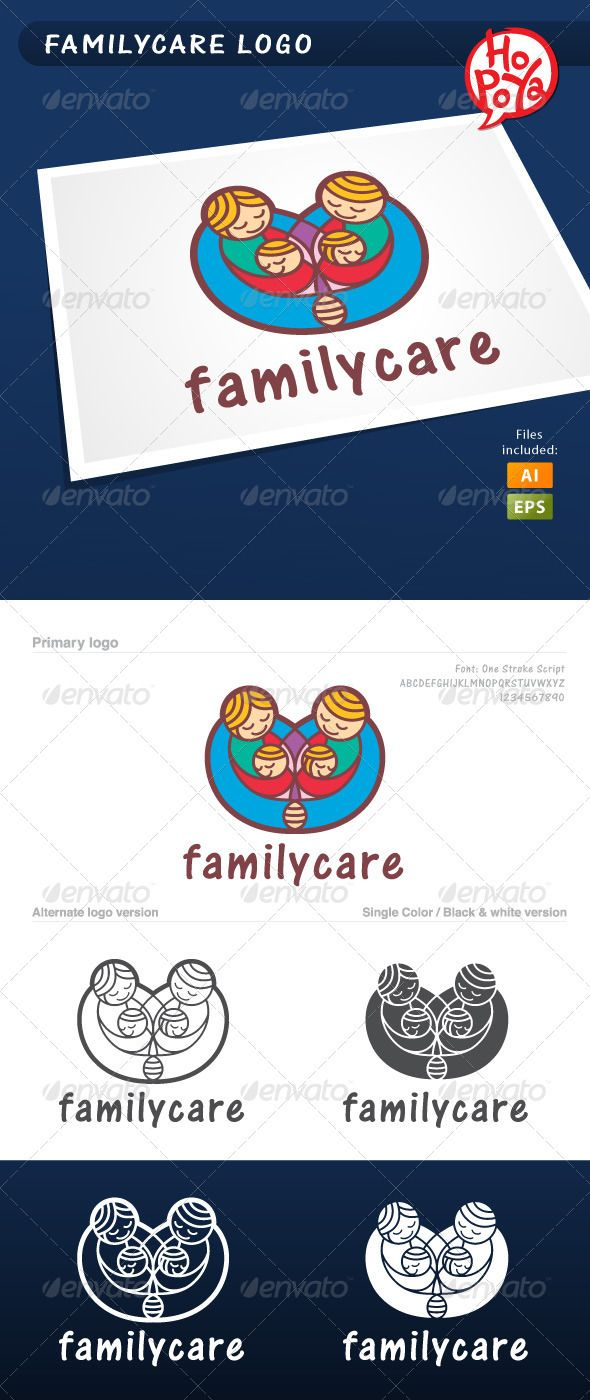 53 best logo templates images on pinterest logo templates font familycare logo graphicriver familycare logo template for your business works layered files 100 buycottarizona Image collections