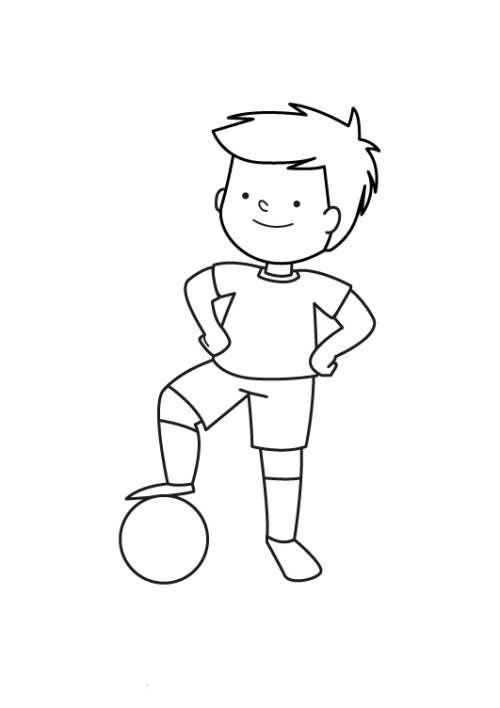 sport kleiner fußballspieler zum ausmalen zum ausmalen