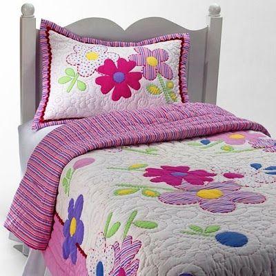 .:: Pontos da Ana ::.: Quarto em patchwork e quilt para meninas
