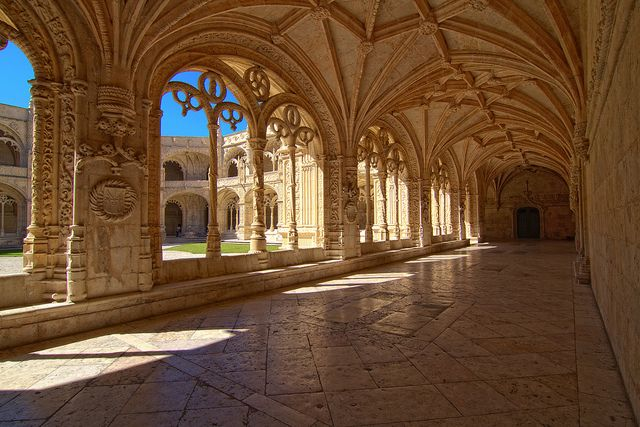The Hieronymites Monastery (Mosteiro dos Jerónimos, Portuguese pronunciation: [muʃˈtɐjɾu duʃ ʒɨˈɾɔnimuʃ]) is located near the shore of the parish of Belém, in the municipality of Lisbon, Portugal. The monastery is one of the most prominent monuments of the Manueline-style architecture (Portuguese late-Gothic) in Lisbon, classified in 1983 as a UNESCO World Heritage Site, along with the nearby Tower of Belém.