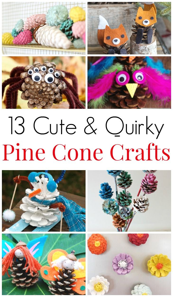 13 Cute And Quirky Pine Cone Crafts Kid Crafts And Activities