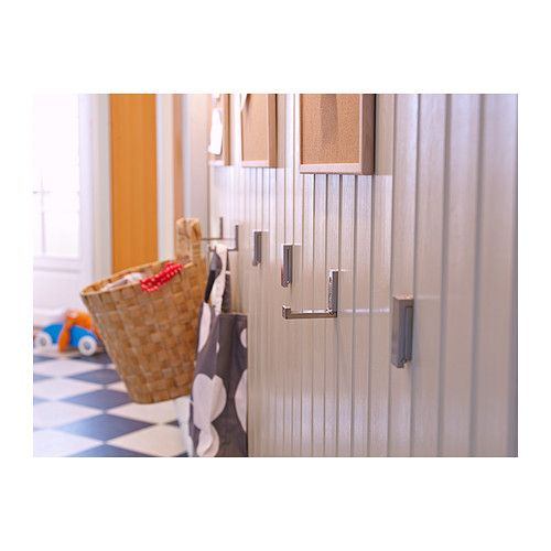 BJÄRNUM Folding hook IKEA Folds to save space when not in use.