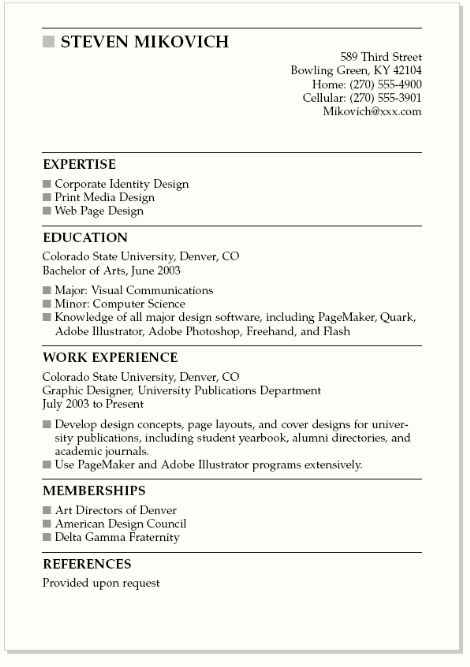 The  Best New Resume Format Ideas On   Interview