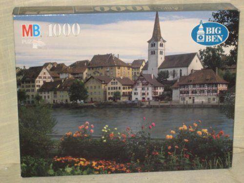 Amazon.com : 1996 MB Big Ben 1000 Piece Jigsaw Puzzle - The River Rhein, Diessenhofen, Switzerland (package wear from storage) : Toys & Game...