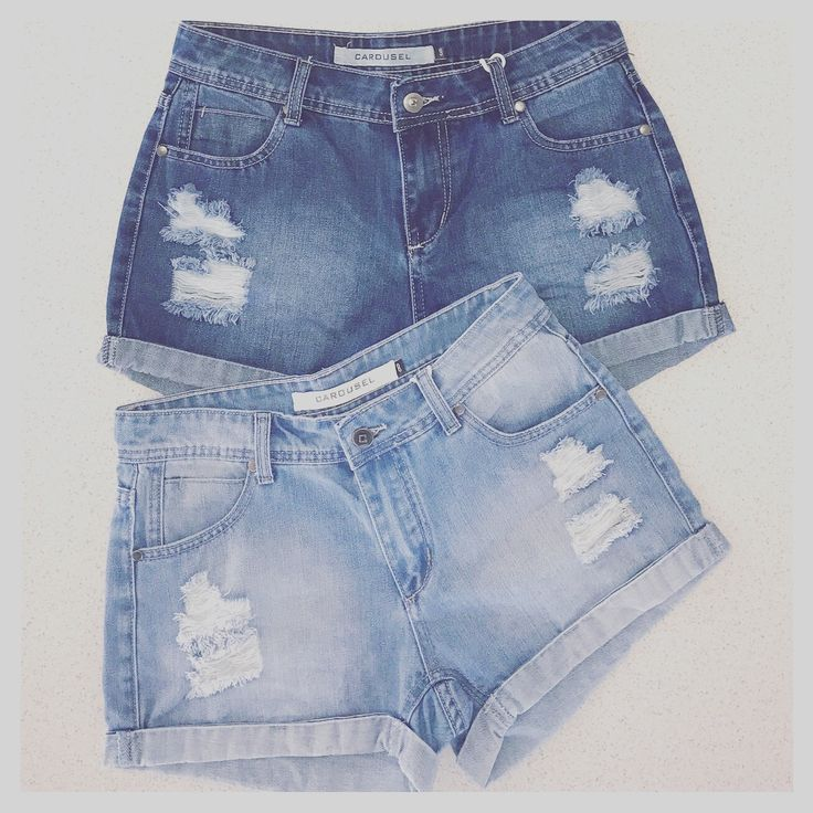 Light and Dark Boyfriend Denim Shorts