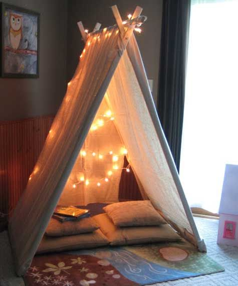 Playroom Canvas Reading Tent Great Idea For The Reading Corner/nook!