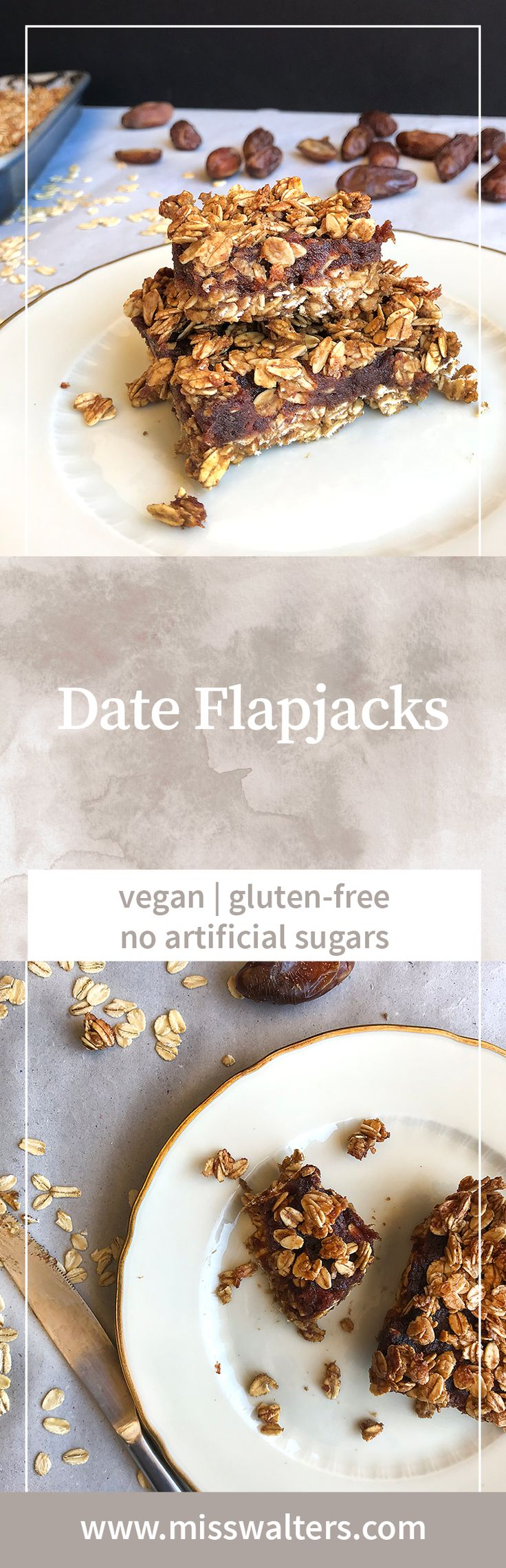 Date flapjacks are my latest food craving and make a brilliant filling snack.