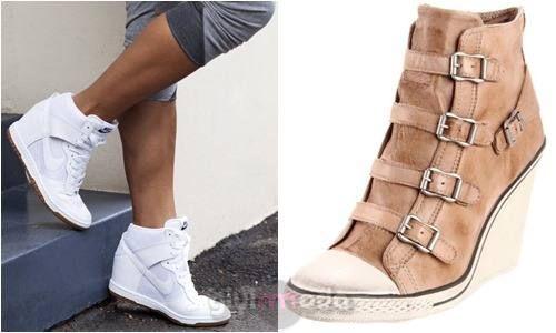 sport #wedge shoes combinations  => http://www.giyimvemoda.com/dolgu-topuk-ayakkabibot-nasil-giyilir.html