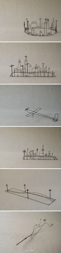 Wire art : landscape