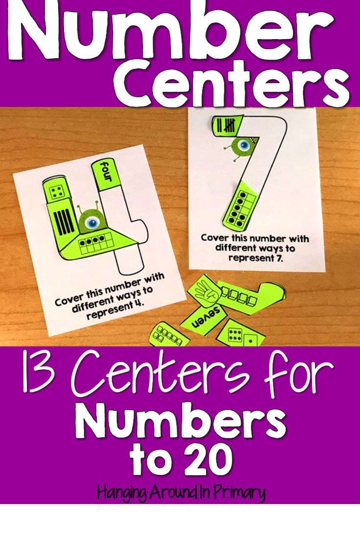 Provide practice with numbers to 20 with these hands on and engaging centers.  Students will compare, order and represent numbers to 20 in many fun ways.