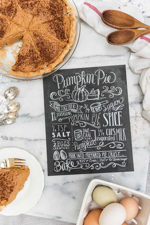 Pumpkin Pie Recipe - Print