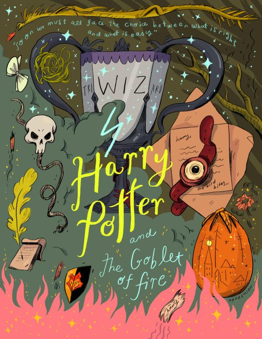 Harry Potter and the Goblet of Fire by Natalie Andrewson #harrypotter #cover