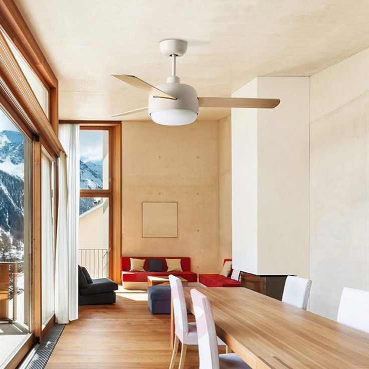 This ceiling fan will give your home a stylish Scandinavian look.