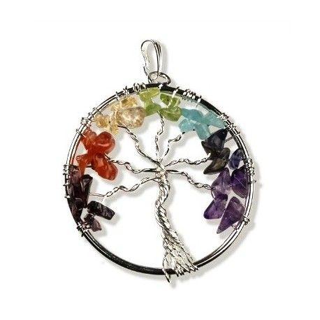 Colgante Árbol de la vida con los 7 chakras. Disfruta de sus múltiples propiedades.