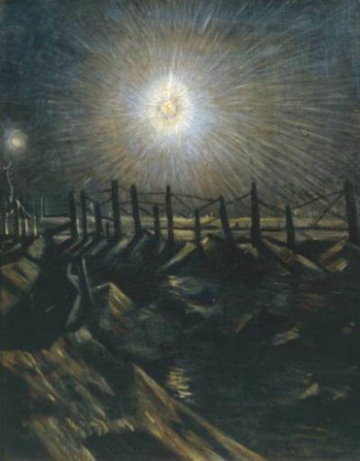 C.R.W. Nevinson, 'A Star Shell', 1916