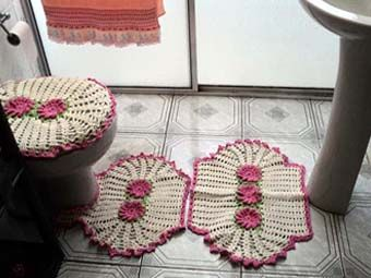 вязаные крючком коврики для ванной