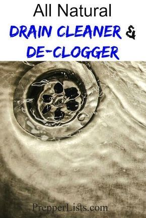 Homemade Drain Cleaner And De-Clogger Recipe