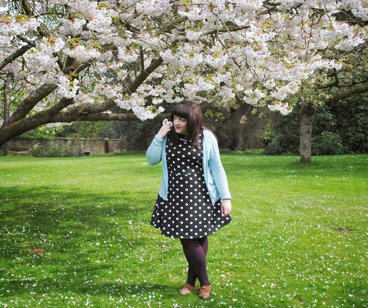 Cherry Blossom. Polka dot dress