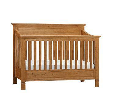 Larkin Fixed Gate 4 In 1 Crib Weathered Pine Pbkids For