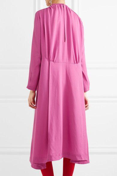 Balenciaga - Split-side Silk-georgette Midi Dress - Pink - FR38