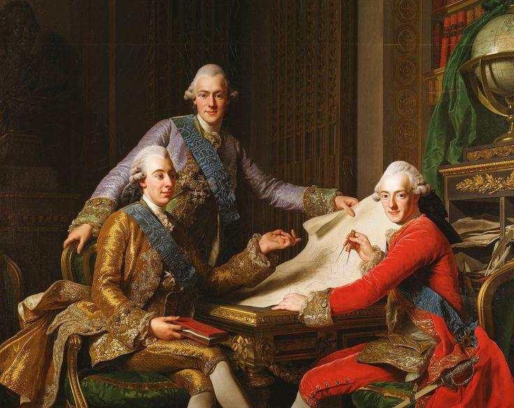 ALEXANDER ROSLIN. Rey Gistavo III, Rey de Suecia y sus hermanos. 1771.