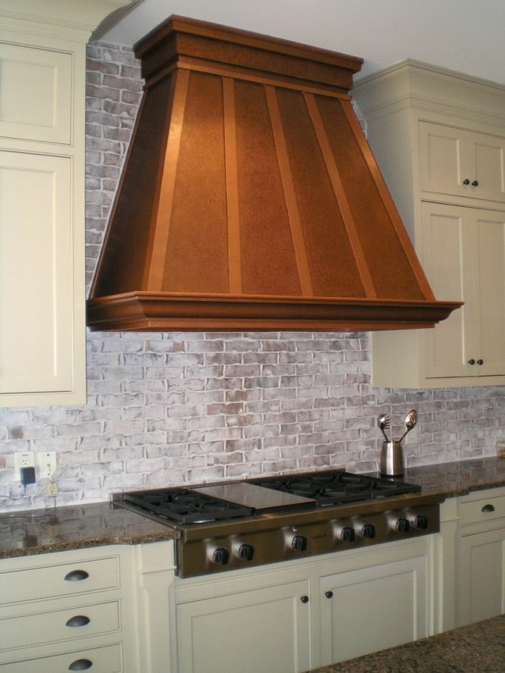 Spectacular custom painted vent hood a touch of copper for Vent hoods for kitchens