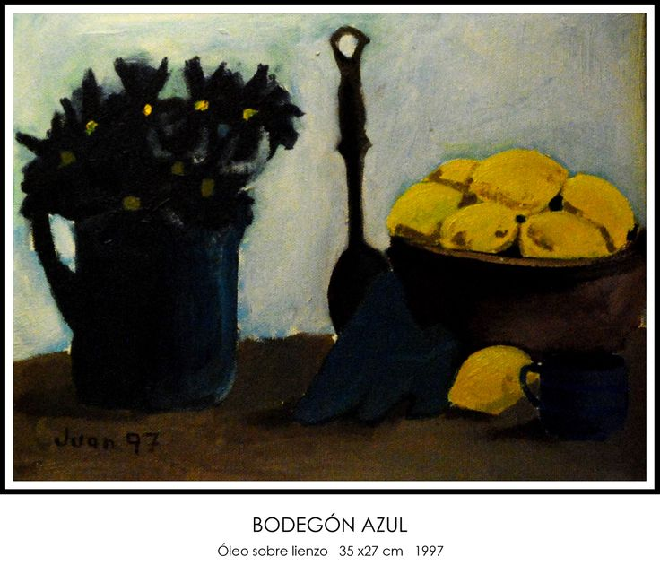Bodegón azul #óleo #lienzo