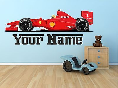 F1 Ferrari Car Personalised Wall Sticker Art Vinyl, Decal,Graphic tr39