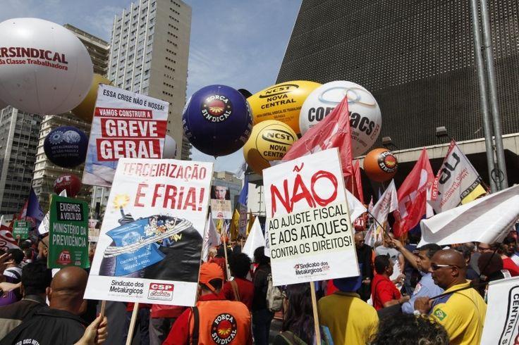 Día Nacional de Movilización en San Pablo 16/8/16 - Créditos: Dino Santos