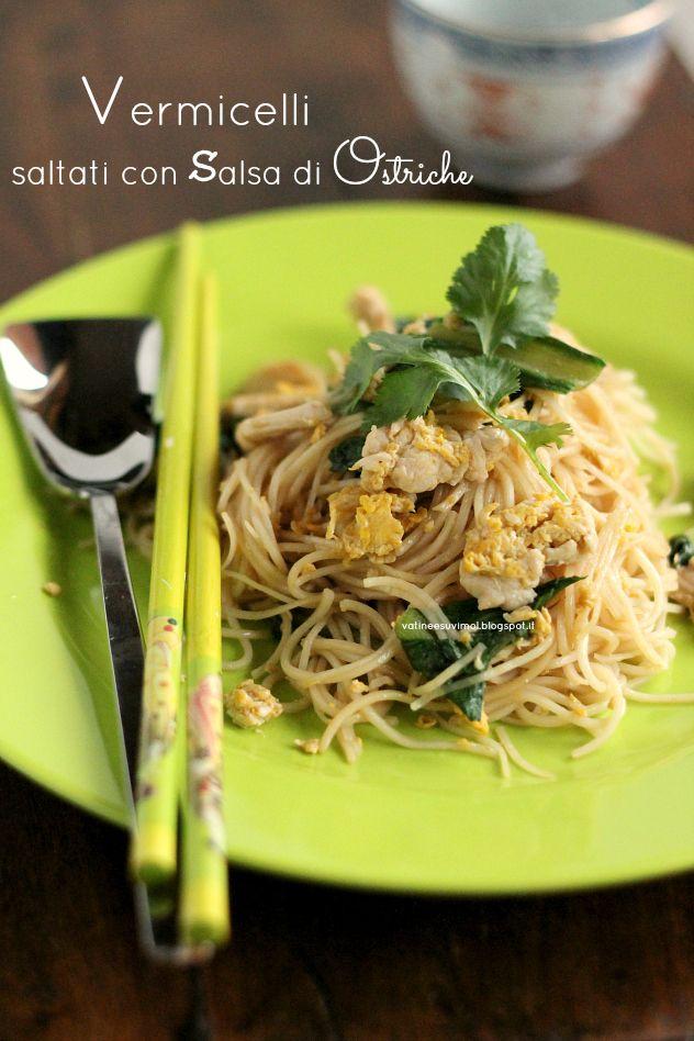 Vermicelli saltati con salsa di ostriche