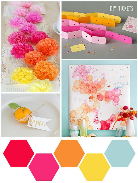 Color Me - Amaranth, Pumpkin, and Powder Blue by scrappyJedi, via Flickr