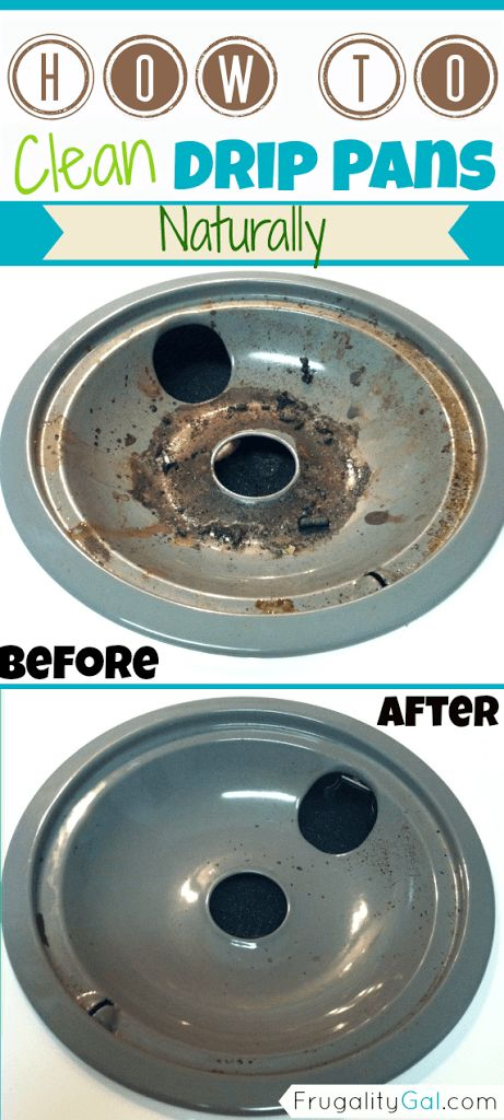 Natural Cleaning Tip : How to clean drip pans naturally. Quick and easy method.