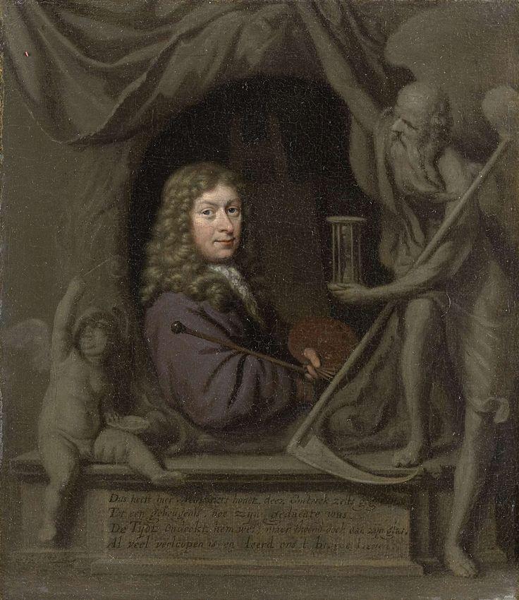 Zelfportret, Michiel van Musscher, 1685