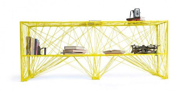 Creative bookshelves modern modular fascinating light yellow