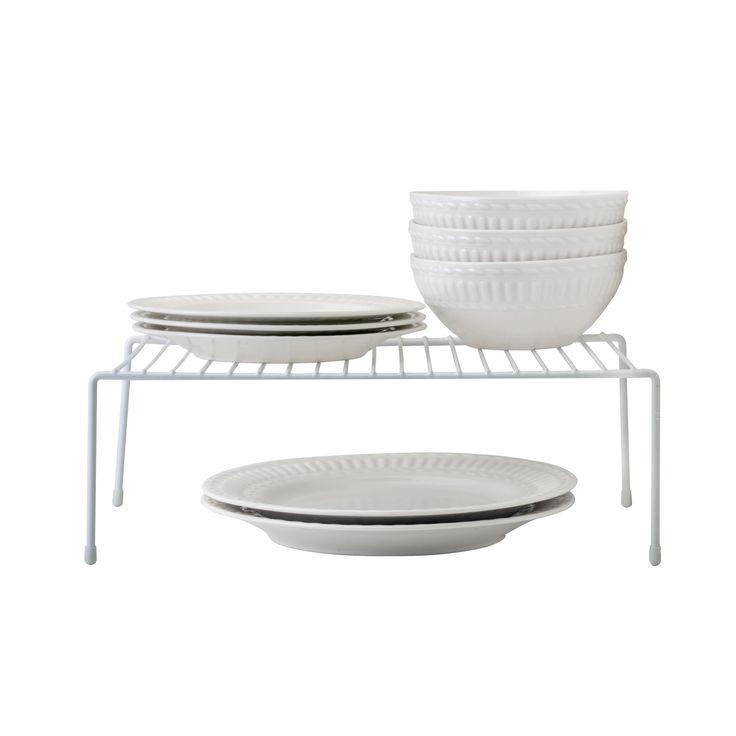 Simply Kitchen Details White Large Kitchen Shelf Organizer (Large, White) (Iron)