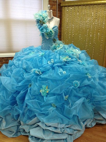 Designer Sondra Celli is known for her ability to do over-the-top, custom gowns.