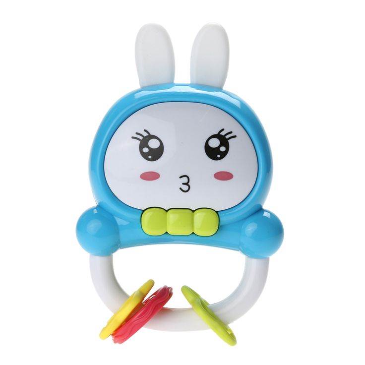 Baby Rattles Rabbit Ears Educational Music Toys Colorful Lights Cute Candy Color Toy For Newborn Toys
