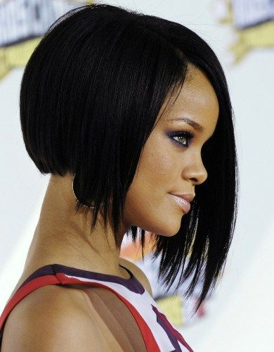 Asymmetrical Bob Haircut For Black Women