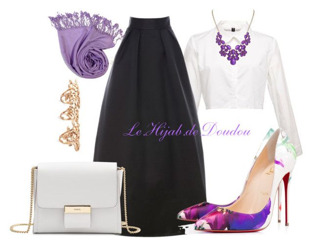 """""""Hijab Outfit"""" by le-hijab-de-doudou ❤ liked on Polyvore featuring moda, Christian Louboutin, Gérard Darel ve Forever 21"""