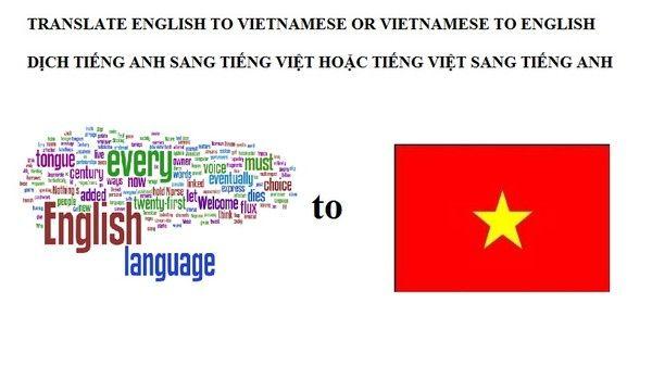Translate english to vietnamese