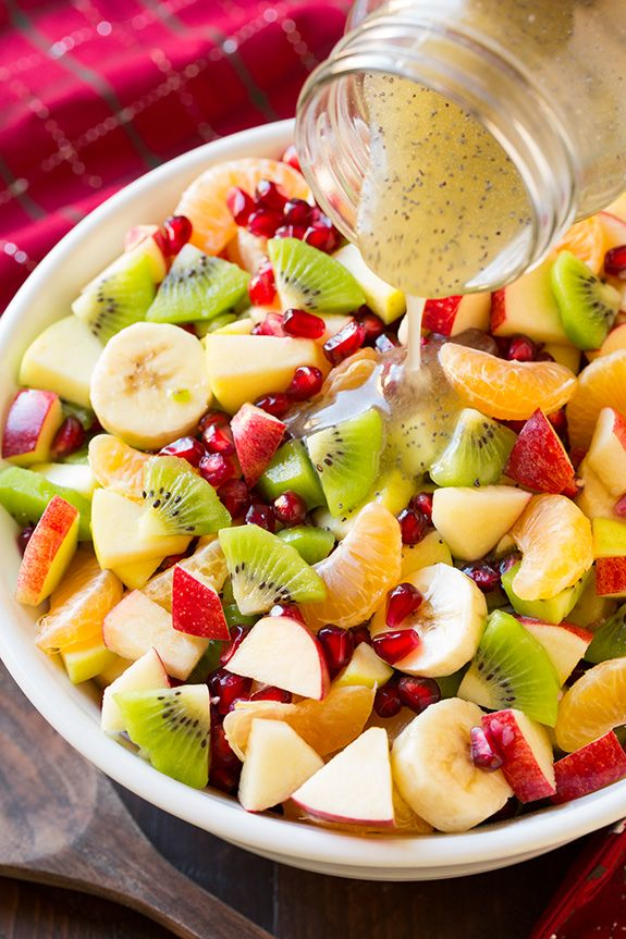 Winter Savoury Fruit Salad with Lemon Poppy Seed Dressing | Cooking Classy