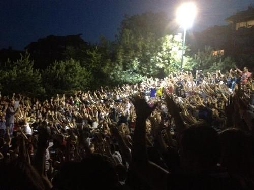 People hold an openly democratic forum for the future of protests in Abbasaga Parki in Besiktas.
