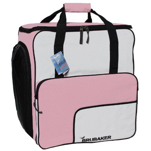 BRUBAKER Ski boot winter sports bag backpack FUNCTION TOP holds complete set of ski and snowboard equipment incl Helmet  Pink * Continue to the product at the image link.